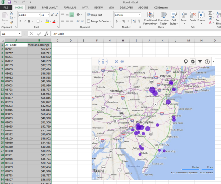 Excel Zip Code Map.Cdx Technologies 6 Free Excel Apps For Use With Location Based Data