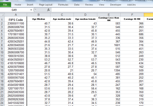 excel 2010 survey template - cdx technologies get census tract demographics in