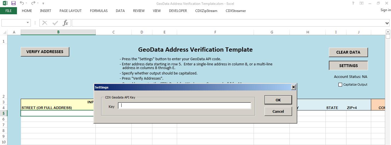 address list template